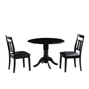 Raymond 3 Piece Drop Leaf Solid Wood Dining Set