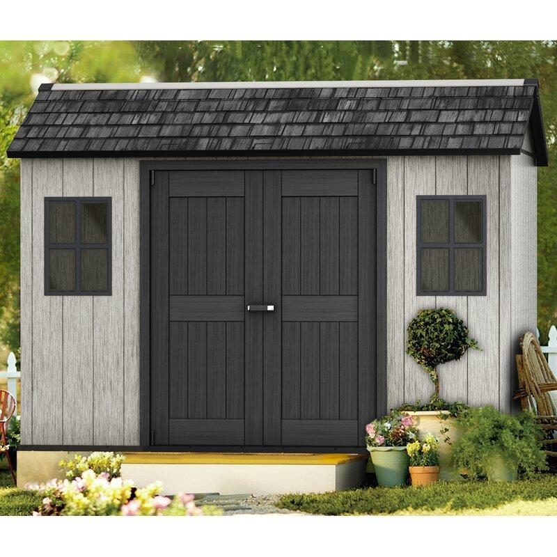 keter 342 cm x 210 cm ger teschuppen oakland aus kunststoff. Black Bedroom Furniture Sets. Home Design Ideas