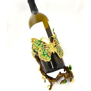 Eastridge Butterfly Tabletop Wine Bottle Rack