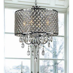 Aurore 4 Light Drum Chandelier