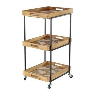 3 tier bar cart kitchen lea modern 3tier bar cart contemporary tier allmodern