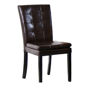 Mayme Leather Parsons Chair (Set of 2) by..