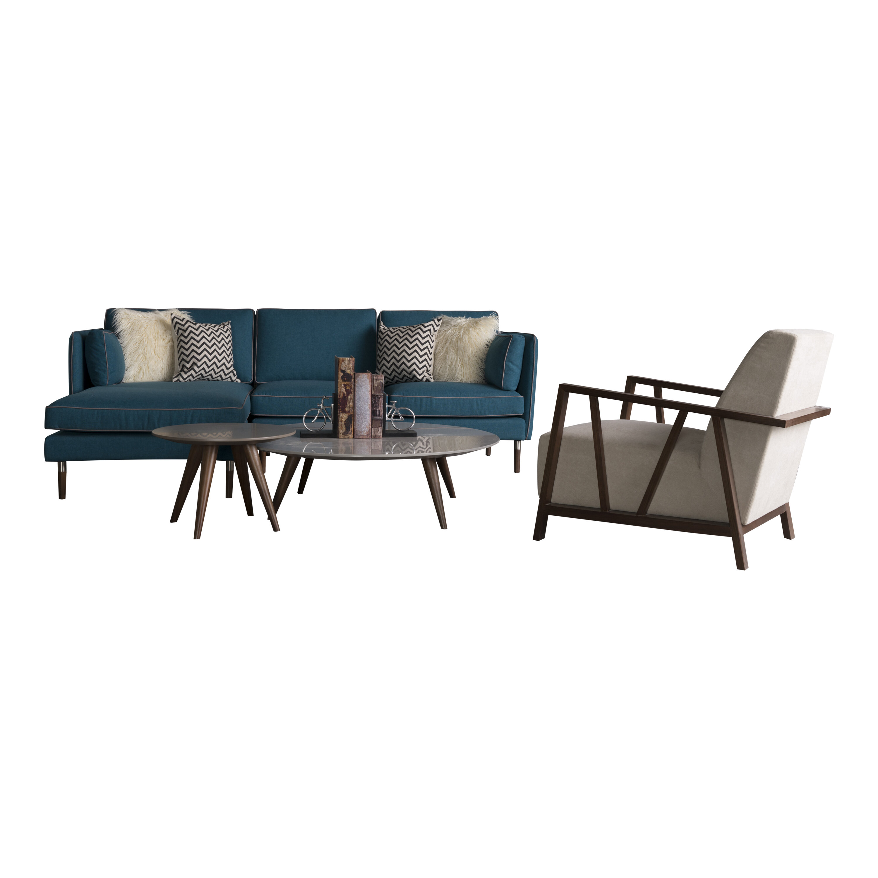 Corrigan Studio Shelburne 4 Piece Living Room Set | Wayfair