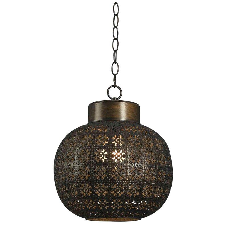 Wildon Home ® Hatchville 1-Light Globe Pendant