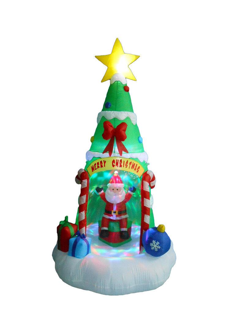 The Holiday Aisle Christmas Tree with Santa Claus Christmas ...