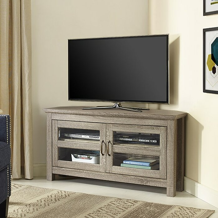 Dunmore 44 Wood Corner Tv Stand