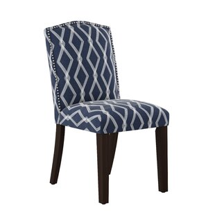Newberry Nail Button Arched Crossweave Side Chair Modern
