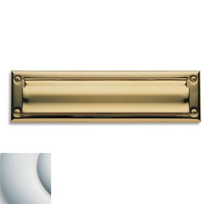 Baldwin 13 in x 3.6 Brass Mail Slot Color: Satin Chrome