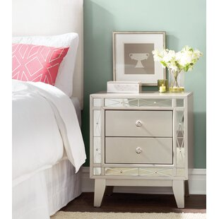 Alessia 2 Drawer Nightstand