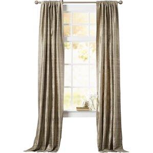 Guerrero Textured Dupioni Silk Single Curtain Panel