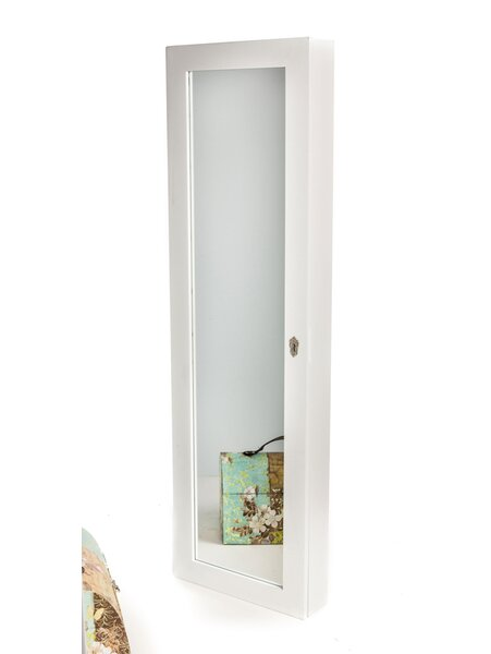 Wall Mount Jewelry Mirror meridian point over the door or wall mount jewelry armoire with