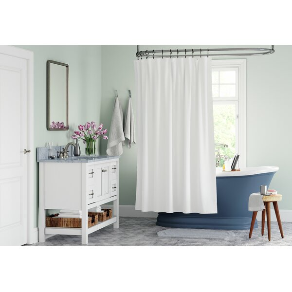 Charmant Extended Length Shower Curtain | Wayfair