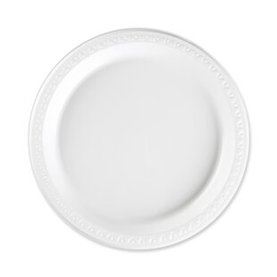 Reusable/Disposable Plastic Plates White  sc 1 st  Wayfair & Plastic Reusable Plates | Wayfair