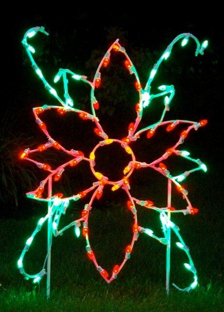 Queens of Christmas Poinsettia Flower LED Light Christmas Decoration | Wayfair