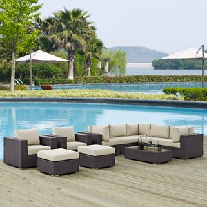 Ryele 10 Piece Deep Seating Group with Cushion