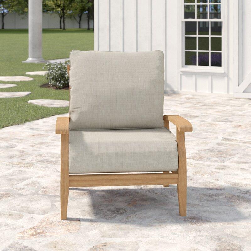 Super Summerton Teak Patio Chair With Cushions Download Free Architecture Designs Jebrpmadebymaigaardcom
