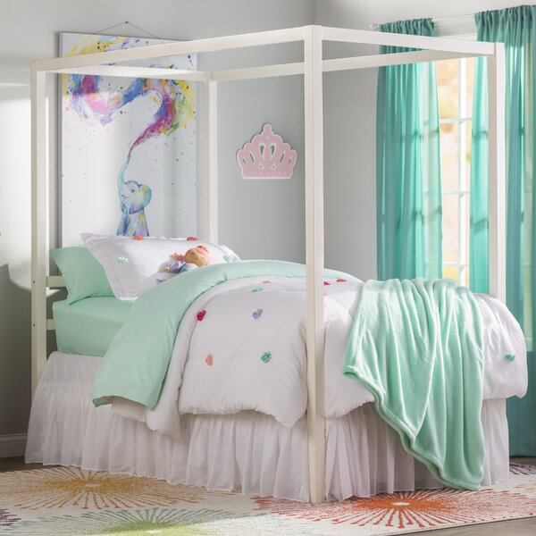 Girls Full Size Canopy Bed | Wayfair