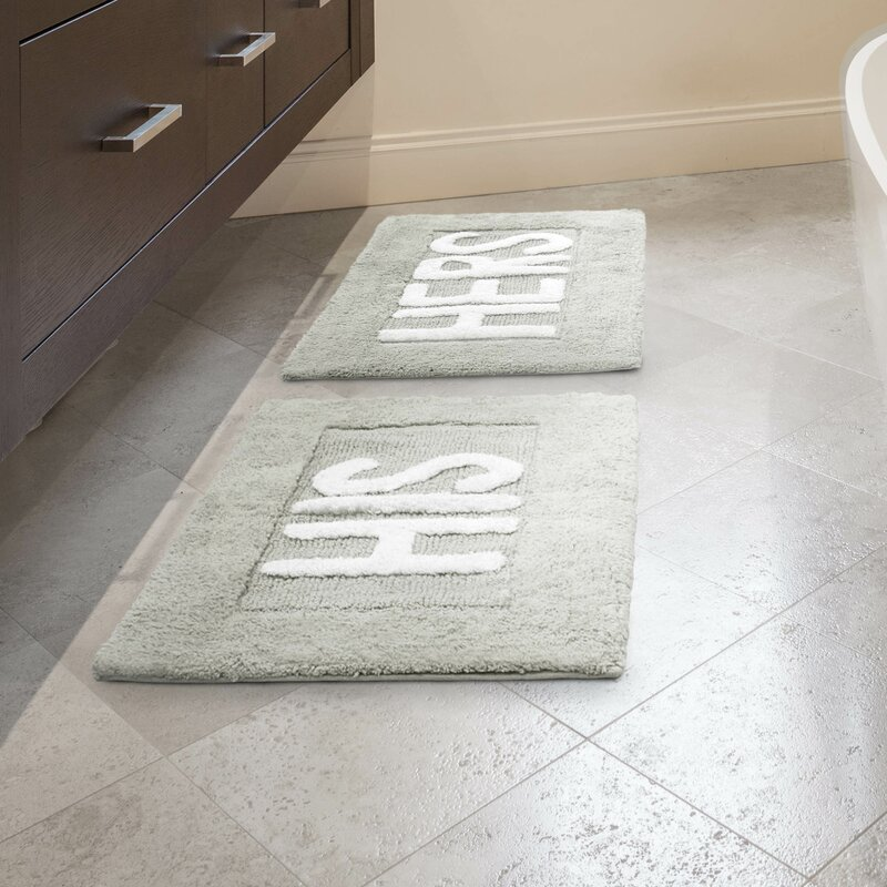 his and hers bathroom set. his and hers cotton 2 piece bath rug set bathroom a