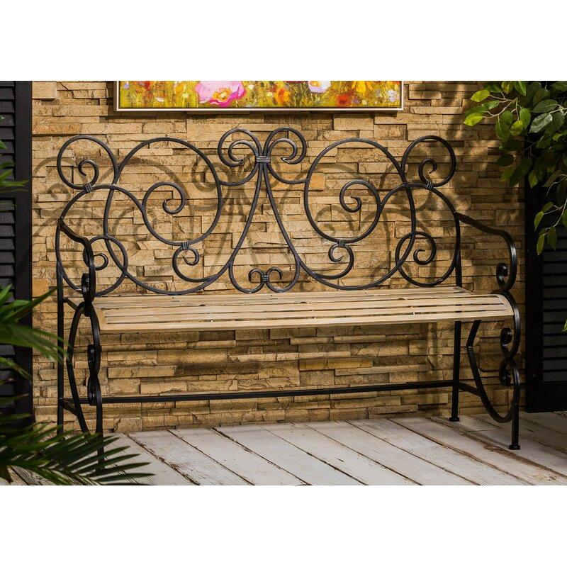 Fleur De Lis Living Claysville European Style Metal Park Bench