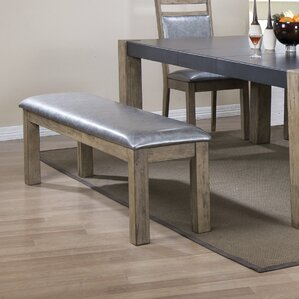 Ariadne Metal/Wood Bench by 17 Stories