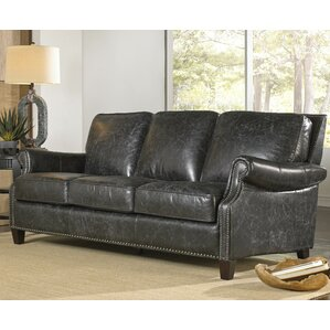 Nathan Leather Sofa by Lazzaro Leather