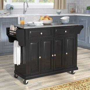 Black Kitchen Islands & Carts You\'ll Love   Wayfair