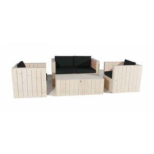 4-tlg. Gartensitzgruppen-Set Stockum mit Kissen von LandwoodFurniture
