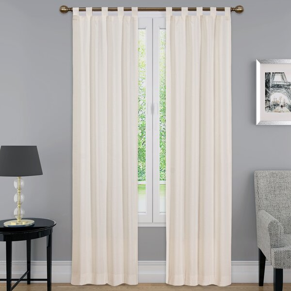 pairs to go montana solid semiopaque thermal tab top curtain panel u0026 reviews wayfairca