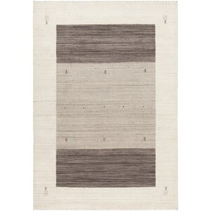 Roxanne Hand-Knotted Wool Cream/Brown Area Rug