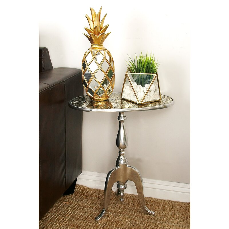 Bon Glass Mosaic End Table
