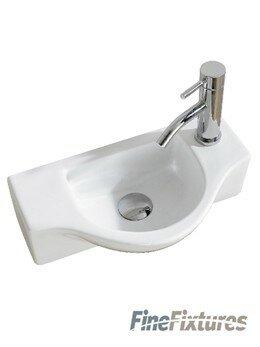 Fine Fixtures Modern Ceramic 18 Quot Wall Mount Bathroom Sink