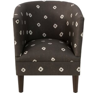 Echevarria Sepia Linen/Cotton Barrel Chair b..