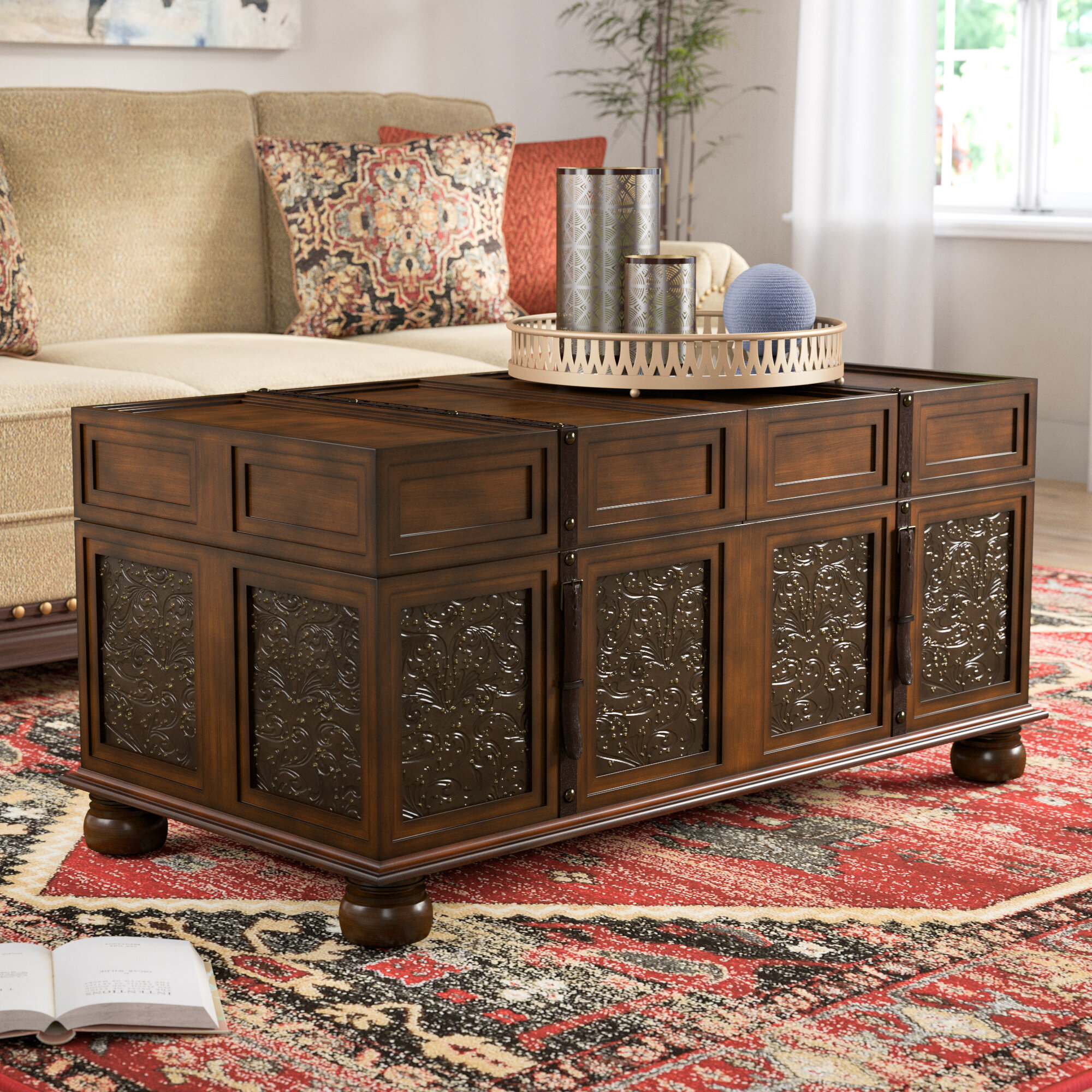 World Menagerie Andalusia Storage Coffee Table Trunk & Reviews