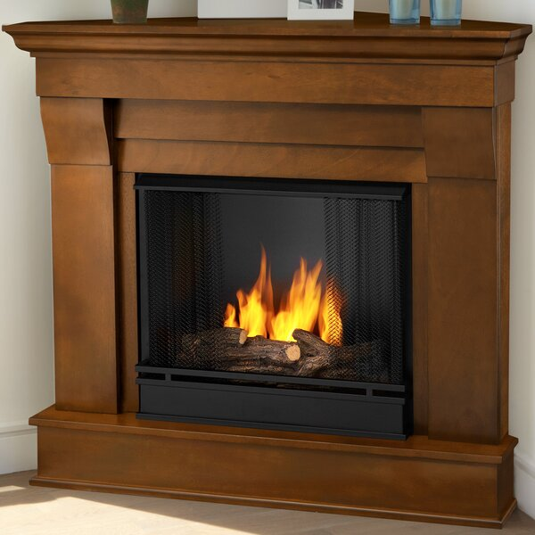Real Flame Chateau Corner Gel Fuel Fireplace Reviews Wayfair - Ashley gel fireplace fuel