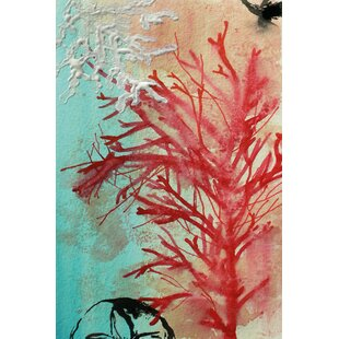 Red Coral By Christine Lindstrom Painting Print On Wrapped Canvas