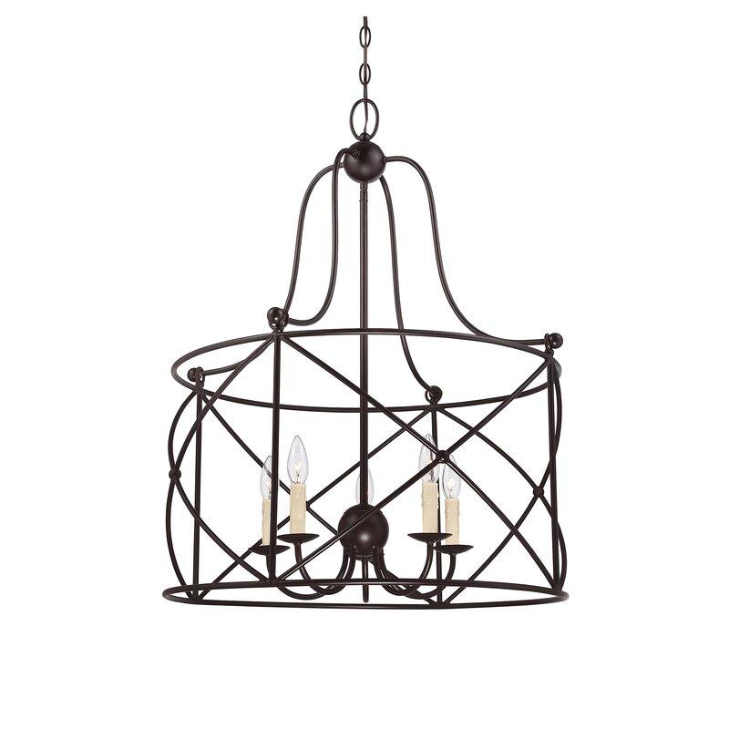 Delia 5 Light Lantern Lantern Pendant Reviews