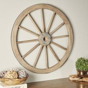 Wagon Wheel Wall Decor wagon wheel decor | wayfair
