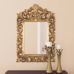 Antique Wall Mirrors alcott hill antique gold wall mirror & reviews | wayfair