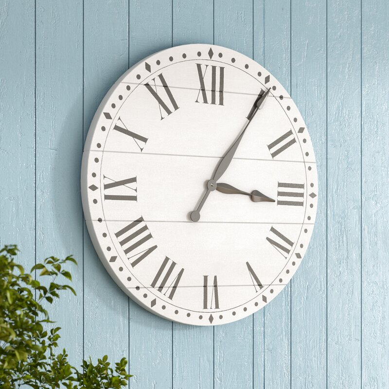 Birch Lane Heritage Oversized Tavis Farmhouse Wall Clock