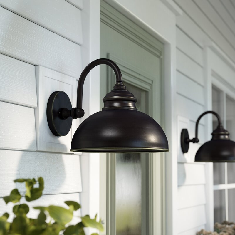 Gracie Oaks Ellwood 1-Light Outdoor Barn Light & Reviews