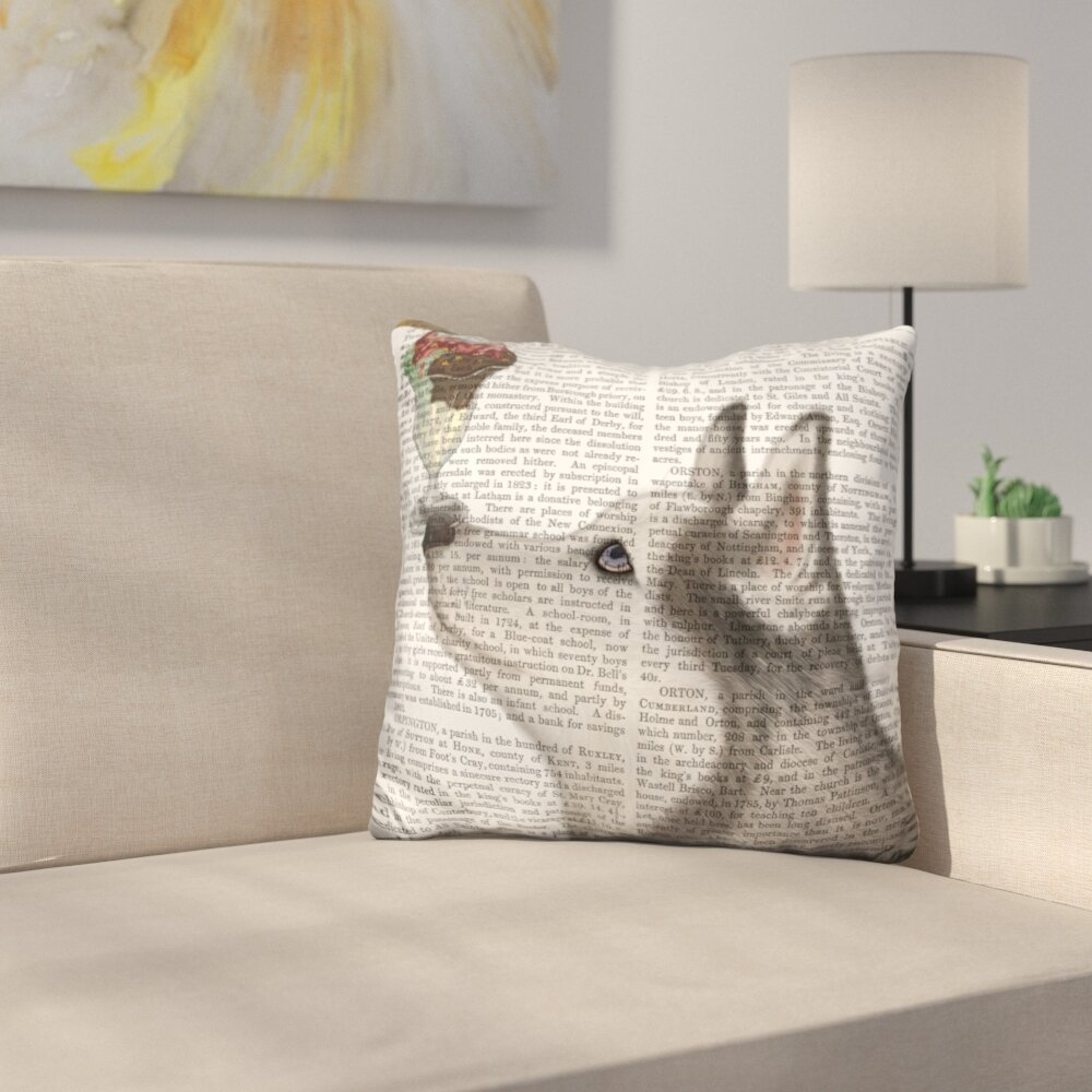 Husky Ice Cream Throw Pillow