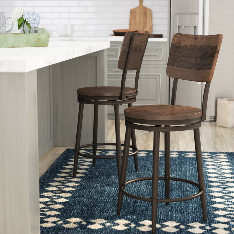 swivel bar stools. Cathie 26\ Swivel Bar Stools A
