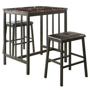 Gerke Counter Height 3 Piece Pub Table Set