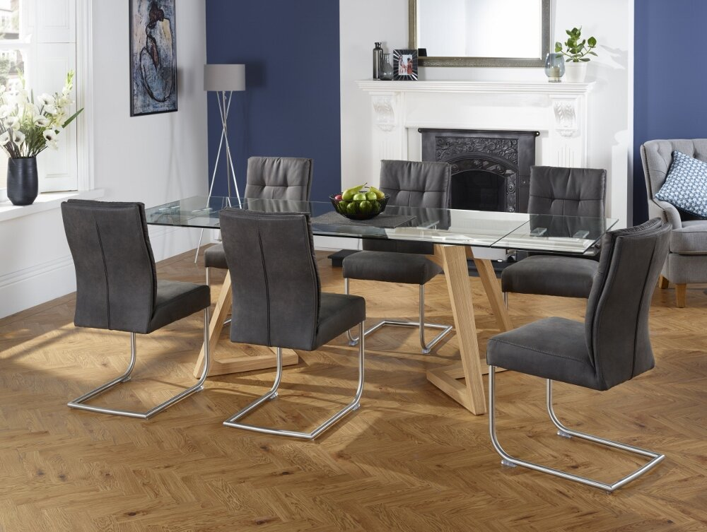 orren ellis essgruppe phelan mit ausziehbarem tisch und 6 st hlen bewertungen. Black Bedroom Furniture Sets. Home Design Ideas
