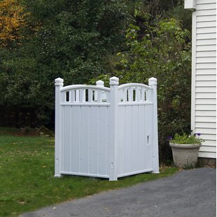 Outdoor Storage 3 Ft. 4.5 In. W X 3 Ft. 7.5 In. D Vinyl Garbage Shed