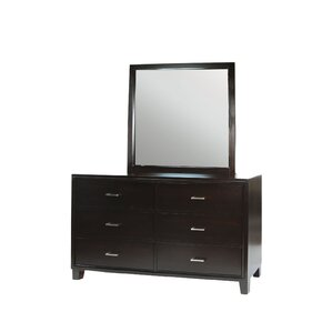 Enrico 6 Drawer Double Dresser by A&J ..