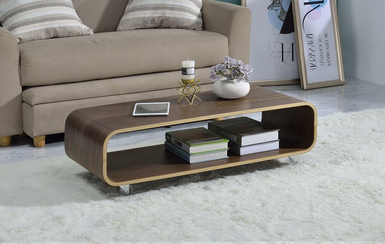 George oliver dressler bentwood rolling coffee table wayfair