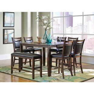 Gutshall 8 Piece Counter Height Extendable Solid Wood Dining Set
