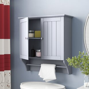 gray bathroom wall cabinets wayfair rh wayfair com Wall Shelving Ideas Bathroom Wall Shelving Units