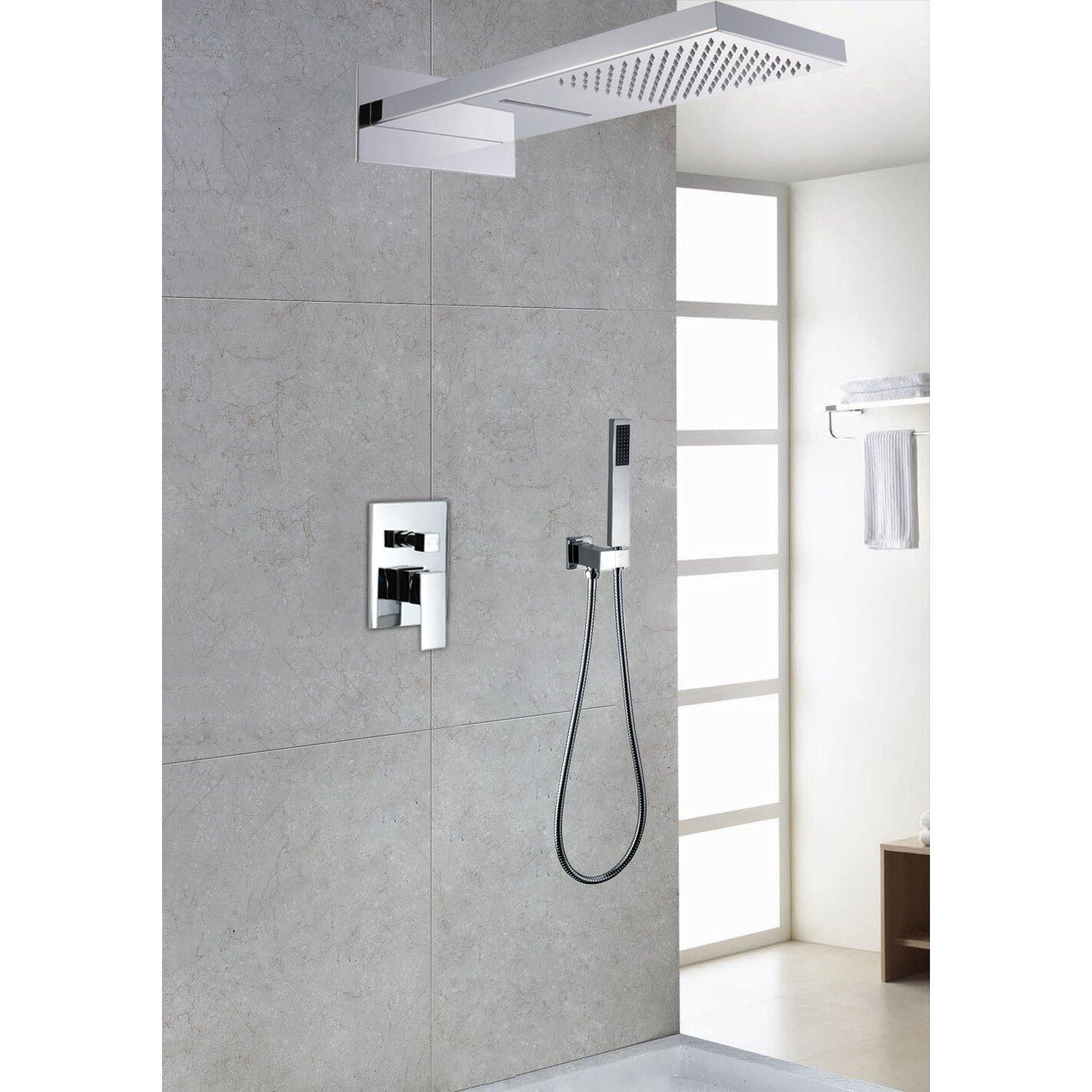 modern shower zazzeri shower column round modern shower columns  - sumerain shower faucet reviews wayfair